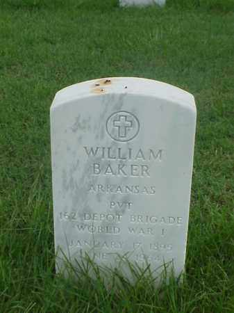 BAKER (VETERAN WWI), WILLIAM - Pulaski County, Arkansas | WILLIAM BAKER (VETERAN WWI) - Arkansas Gravestone Photos