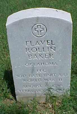 BAKER (VETERAN WWII), FLAVEL ROLLIN - Pulaski County, Arkansas | FLAVEL ROLLIN BAKER (VETERAN WWII) - Arkansas Gravestone Photos