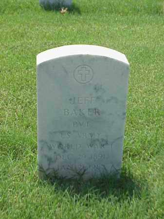 BAKER (VETERAN WWII), JEFF - Pulaski County, Arkansas | JEFF BAKER (VETERAN WWII) - Arkansas Gravestone Photos