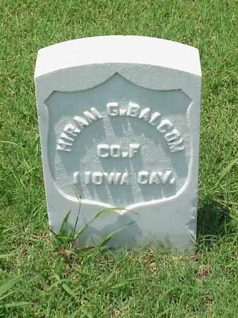BALCOM (VETERAN UNION), HIRAM G - Pulaski County, Arkansas | HIRAM G BALCOM (VETERAN UNION) - Arkansas Gravestone Photos