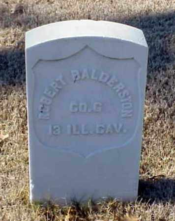 BALDERSTON (VETERAN UNION), ROBERT - Pulaski County, Arkansas | ROBERT BALDERSTON (VETERAN UNION) - Arkansas Gravestone Photos