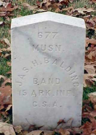BALDING (VETERAN CSA), JAMES H - Pulaski County, Arkansas | JAMES H BALDING (VETERAN CSA) - Arkansas Gravestone Photos