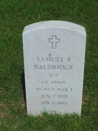 BALDRIDGE (VETERAN WWI), SAMUEL FRANKLIN - Pulaski County, Arkansas | SAMUEL FRANKLIN BALDRIDGE (VETERAN WWI) - Arkansas Gravestone Photos