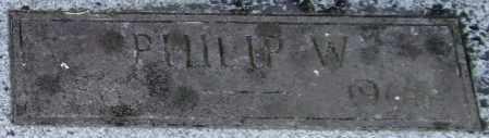 BALDWIN, PHILIP W. (CLOSEUP) - Pulaski County, Arkansas   PHILIP W. (CLOSEUP) BALDWIN - Arkansas Gravestone Photos