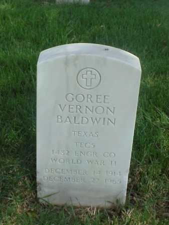 BALDWIN (VETERAN WWII), GOREE VERNON - Pulaski County, Arkansas | GOREE VERNON BALDWIN (VETERAN WWII) - Arkansas Gravestone Photos