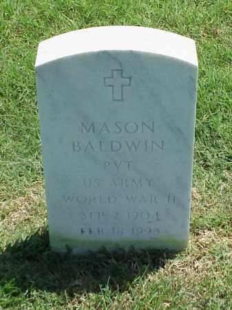 BALDWIN (VETERAN WWII), MASON - Pulaski County, Arkansas | MASON BALDWIN (VETERAN WWII) - Arkansas Gravestone Photos