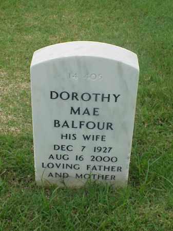 BALFOUR, DOROTHY MAE - Pulaski County, Arkansas | DOROTHY MAE BALFOUR - Arkansas Gravestone Photos