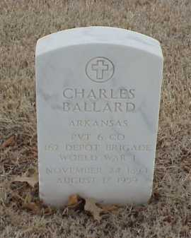 BALLARD  (VETERAN WWI), CHARLES - Pulaski County, Arkansas | CHARLES BALLARD  (VETERAN WWI) - Arkansas Gravestone Photos