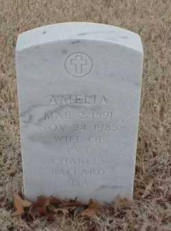 BALLARD, AMELIA - Pulaski County, Arkansas | AMELIA BALLARD - Arkansas Gravestone Photos