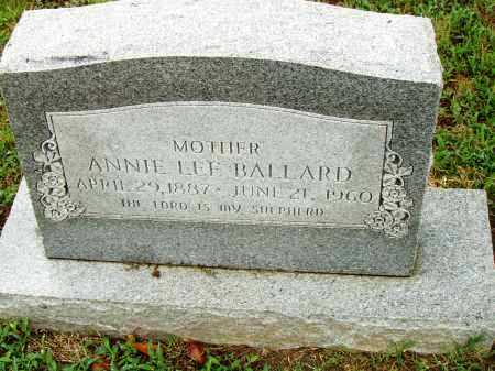BALLARD, ANNIE LEE - Pulaski County, Arkansas | ANNIE LEE BALLARD - Arkansas Gravestone Photos
