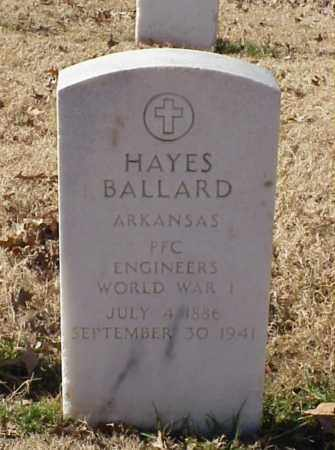 BALLARD (VETERAN WWI), HAYES - Pulaski County, Arkansas | HAYES BALLARD (VETERAN WWI) - Arkansas Gravestone Photos