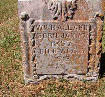 BALLARD, WM - Pulaski County, Arkansas | WM BALLARD - Arkansas Gravestone Photos