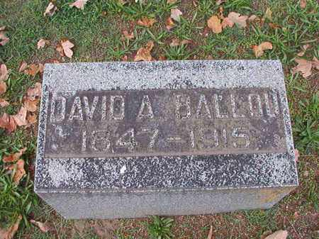 BALLOU, DAVID A - Pulaski County, Arkansas | DAVID A BALLOU - Arkansas Gravestone Photos