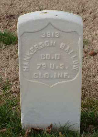 BALLOW (VETERAN UNION), HANKERSON - Pulaski County, Arkansas | HANKERSON BALLOW (VETERAN UNION) - Arkansas Gravestone Photos