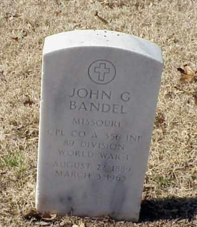 BANDEL (VETERAN WWI), JOHN G - Pulaski County, Arkansas | JOHN G BANDEL (VETERAN WWI) - Arkansas Gravestone Photos