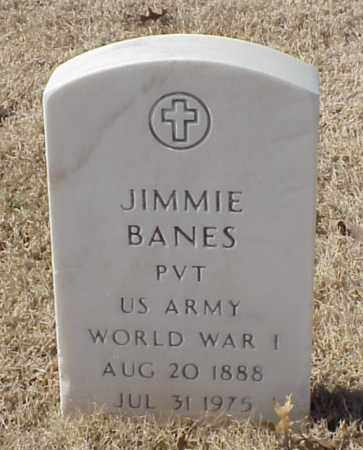 BANES (VETERAN WWI), JIMMIE - Pulaski County, Arkansas | JIMMIE BANES (VETERAN WWI) - Arkansas Gravestone Photos