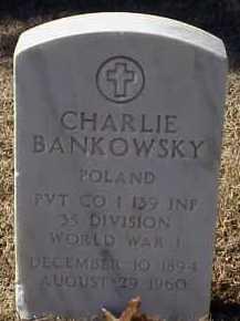 BANKOWSKY  (VETERAN WWI), CHARLIE - Pulaski County, Arkansas | CHARLIE BANKOWSKY  (VETERAN WWI) - Arkansas Gravestone Photos