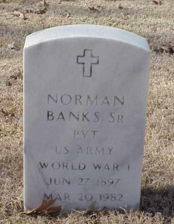 BANKS, SR (VETERAN WWI), NORMAN - Pulaski County, Arkansas | NORMAN BANKS, SR (VETERAN WWI) - Arkansas Gravestone Photos