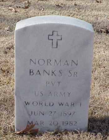 BANKS, SR (VETERAN WWI), NORMAN - Pulaski County, Arkansas | NORMAN BANKS, SR (VETERAN WWI) - Arkansas Gravestone Photos