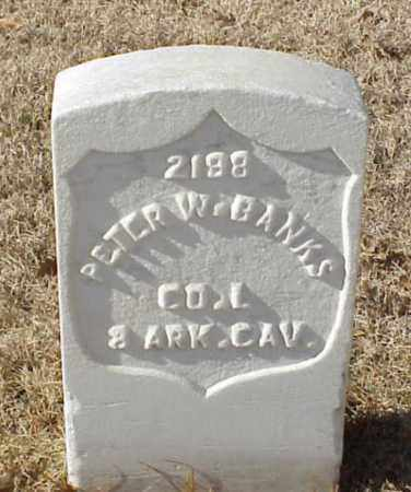 BANKS (VETERAN UNION), PETER W - Pulaski County, Arkansas | PETER W BANKS (VETERAN UNION) - Arkansas Gravestone Photos