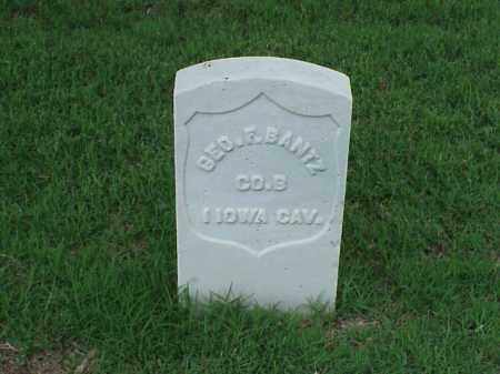 BANTZ (VETERAN UNION), GEORGE F - Pulaski County, Arkansas | GEORGE F BANTZ (VETERAN UNION) - Arkansas Gravestone Photos