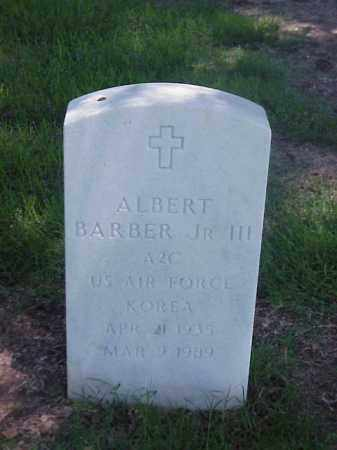 BARBER, JR, III (VETERAN KOR), ALBERT - Pulaski County, Arkansas | ALBERT BARBER, JR, III (VETERAN KOR) - Arkansas Gravestone Photos