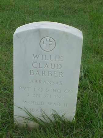 BARBER (VETERAN WWII), WILLIE CLAUD - Pulaski County, Arkansas | WILLIE CLAUD BARBER (VETERAN WWII) - Arkansas Gravestone Photos