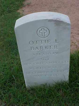 BARKER (VETERAN WWII), OTTIE L - Pulaski County, Arkansas | OTTIE L BARKER (VETERAN WWII) - Arkansas Gravestone Photos