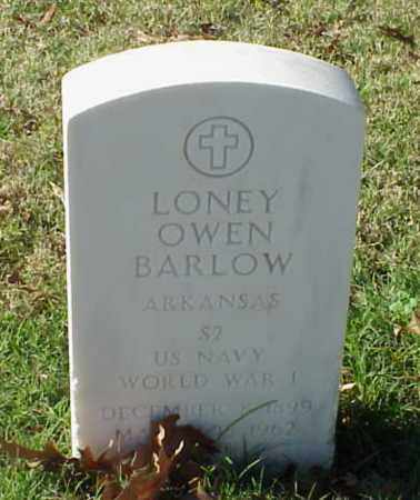 BARLOW (VETERAN WWI), LONEY OWEN - Pulaski County, Arkansas | LONEY OWEN BARLOW (VETERAN WWI) - Arkansas Gravestone Photos