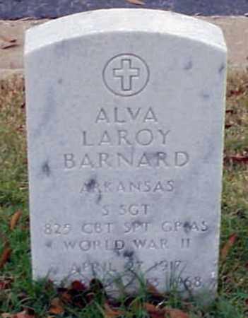 BARNARD (VETERAN WWII), ALVA LAROY - Pulaski County, Arkansas | ALVA LAROY BARNARD (VETERAN WWII) - Arkansas Gravestone Photos