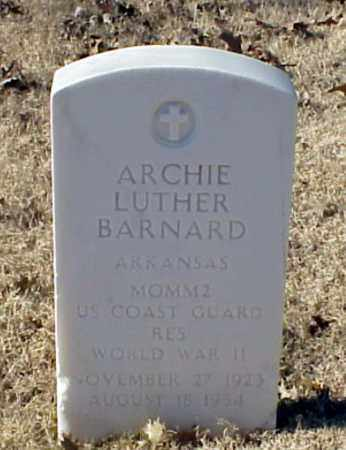 BARNARD (VETERAN WWII), ARCHIE LUTHER - Pulaski County, Arkansas | ARCHIE LUTHER BARNARD (VETERAN WWII) - Arkansas Gravestone Photos