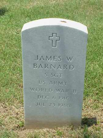 BARNARD (VETERAN WWII), JAMES W - Pulaski County, Arkansas | JAMES W BARNARD (VETERAN WWII) - Arkansas Gravestone Photos