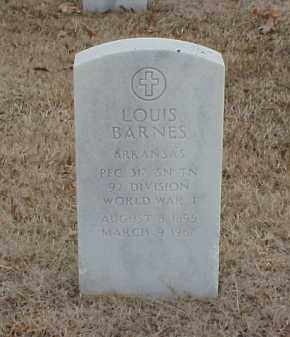 BARNES  (VETERAN WWI), LOUIS - Pulaski County, Arkansas | LOUIS BARNES  (VETERAN WWI) - Arkansas Gravestone Photos