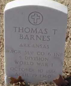 BARNES  (VETERAN WWI), THOMAS T - Pulaski County, Arkansas | THOMAS T BARNES  (VETERAN WWI) - Arkansas Gravestone Photos