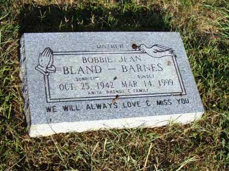 BLAND BARNES, BOBBIE JEAN - Pulaski County, Arkansas | BOBBIE JEAN BLAND BARNES - Arkansas Gravestone Photos