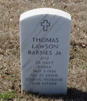 BARNES, JR (VETERAN KOR), THOMAS LAWSON - Pulaski County, Arkansas | THOMAS LAWSON BARNES, JR (VETERAN KOR) - Arkansas Gravestone Photos