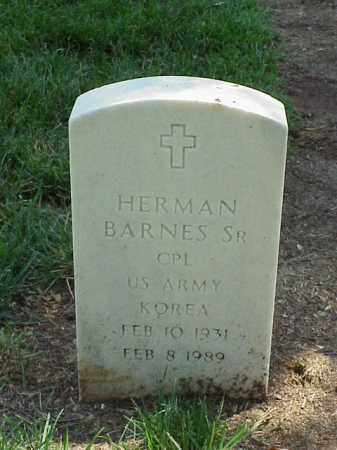BARNES, SR (VETERAN KOR), HERMAN - Pulaski County, Arkansas | HERMAN BARNES, SR (VETERAN KOR) - Arkansas Gravestone Photos