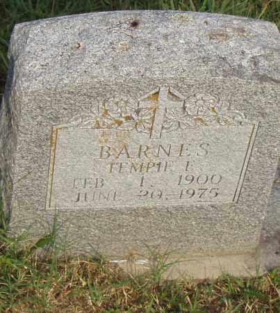 BARNES, TEMPIE E. - Pulaski County, Arkansas | TEMPIE E. BARNES - Arkansas Gravestone Photos