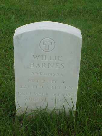 BARNES (VETERAN), WILLIE - Pulaski County, Arkansas | WILLIE BARNES (VETERAN) - Arkansas Gravestone Photos