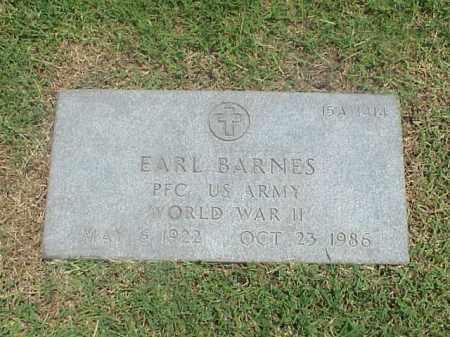 BARNES (VETERAN WWII), EARL - Pulaski County, Arkansas | EARL BARNES (VETERAN WWII) - Arkansas Gravestone Photos