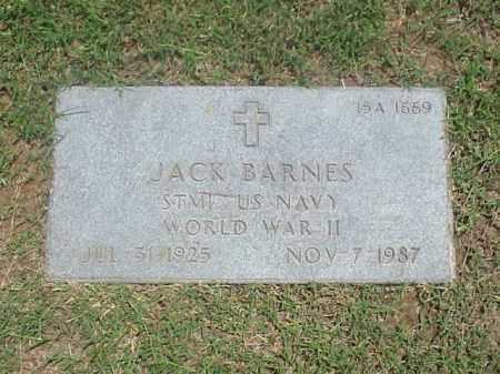 BARNES (VETERAN WWII), JACK - Pulaski County, Arkansas | JACK BARNES (VETERAN WWII) - Arkansas Gravestone Photos