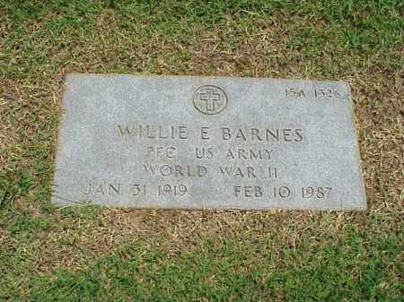 BARNES (VETERAN WWII), WILLIE E - Pulaski County, Arkansas | WILLIE E BARNES (VETERAN WWII) - Arkansas Gravestone Photos
