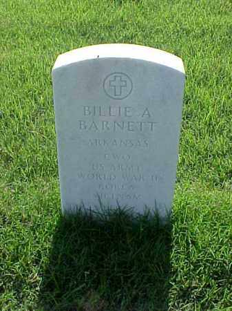 BARNETT (VETERAN 3WARS), BILLIE A - Pulaski County, Arkansas | BILLIE A BARNETT (VETERAN 3WARS) - Arkansas Gravestone Photos