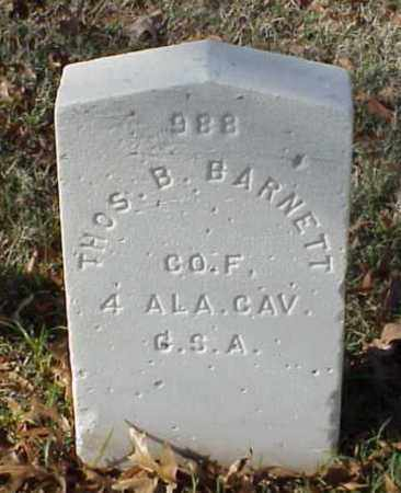 BARNETT (VETERAN CSA), THOMAS B - Pulaski County, Arkansas | THOMAS B BARNETT (VETERAN CSA) - Arkansas Gravestone Photos