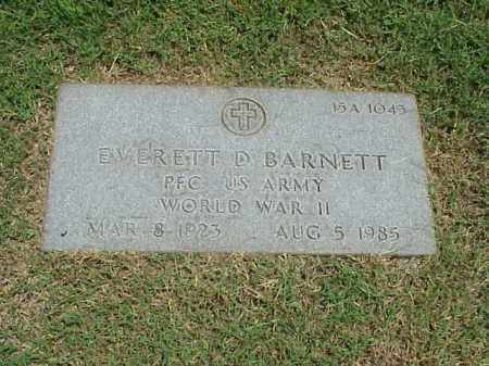 BARNETT (VETERAN WWII), EVERETT D - Pulaski County, Arkansas | EVERETT D BARNETT (VETERAN WWII) - Arkansas Gravestone Photos