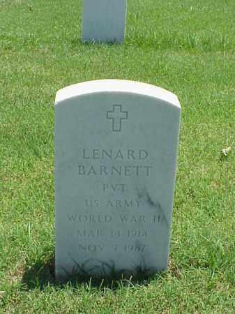 BARNETT (VETERAN WWII), LENARD - Pulaski County, Arkansas | LENARD BARNETT (VETERAN WWII) - Arkansas Gravestone Photos
