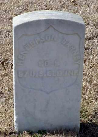 BARNEY (VETERAN UNION), HENDERSON - Pulaski County, Arkansas | HENDERSON BARNEY (VETERAN UNION) - Arkansas Gravestone Photos