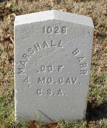 BARR (VETERAN CSA), MARSHALL - Pulaski County, Arkansas   MARSHALL BARR (VETERAN CSA) - Arkansas Gravestone Photos