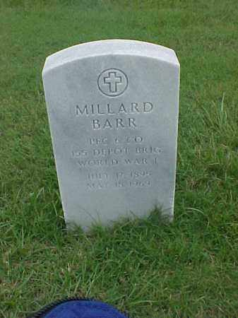 BARR (VETERAN WWI), MILLARD - Pulaski County, Arkansas | MILLARD BARR (VETERAN WWI) - Arkansas Gravestone Photos