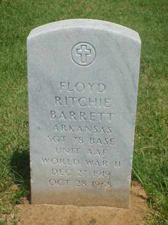 BARRETT (VETERAN WWII), FLOYD RITCHIE - Pulaski County, Arkansas | FLOYD RITCHIE BARRETT (VETERAN WWII) - Arkansas Gravestone Photos